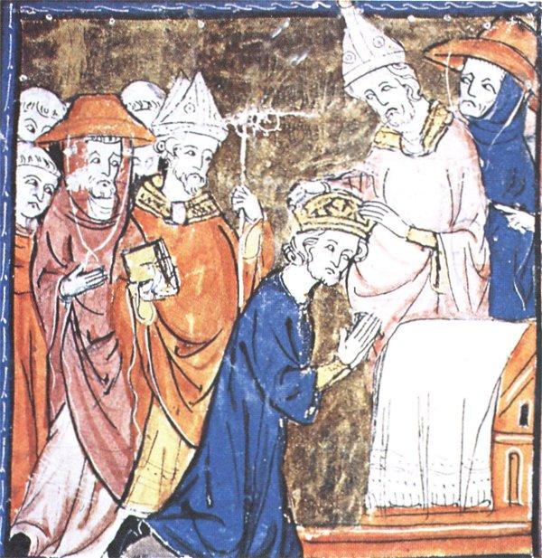 Målning som föreställer Karl den stores kröning