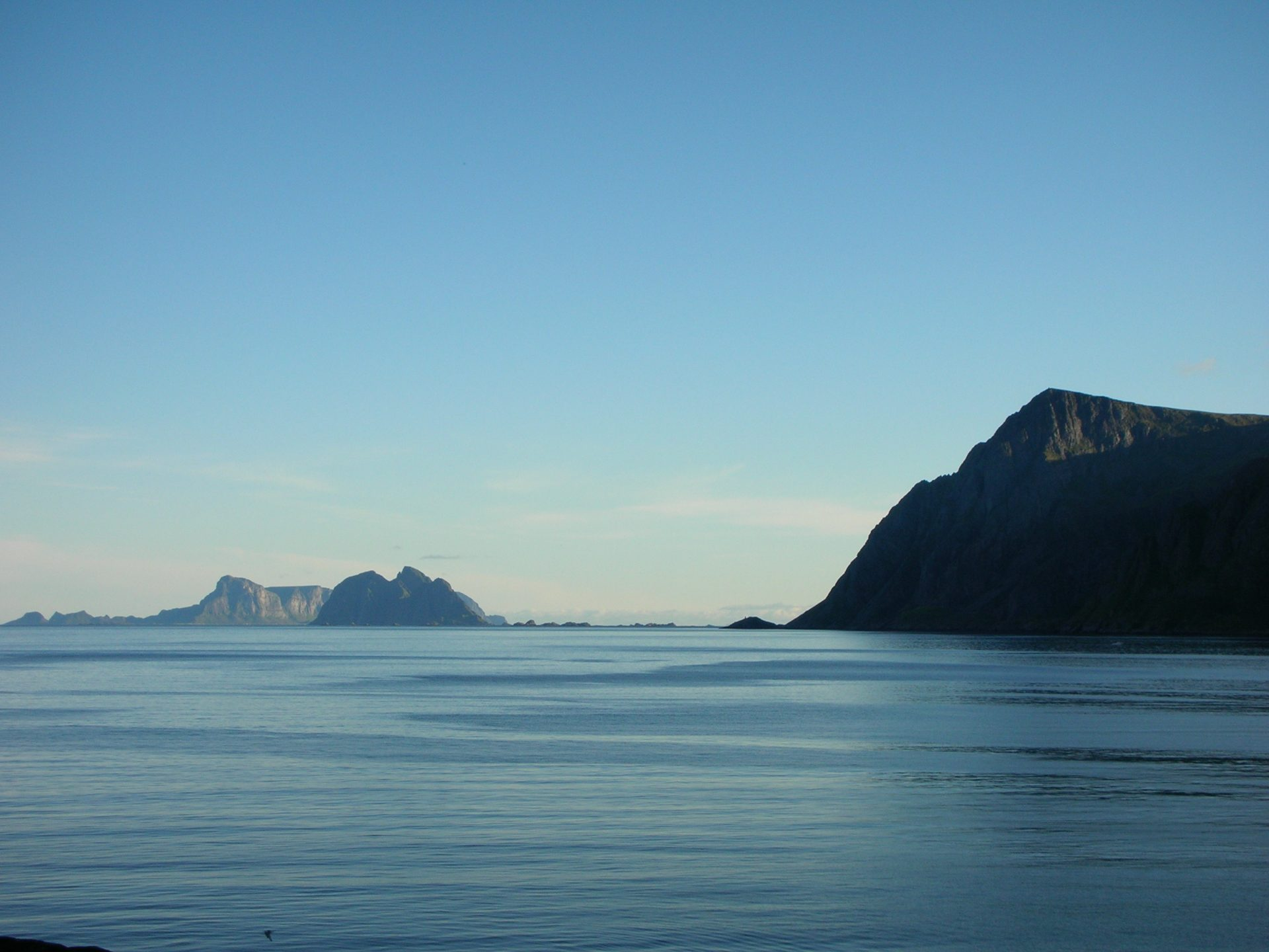 Naturvy på Moskstraumen i Norge
