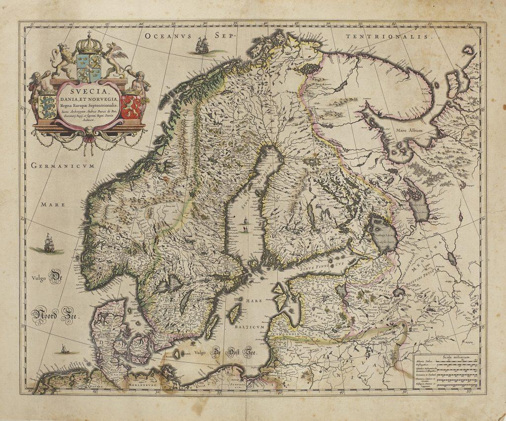 Karta över Skandinavien från 1640-talet.