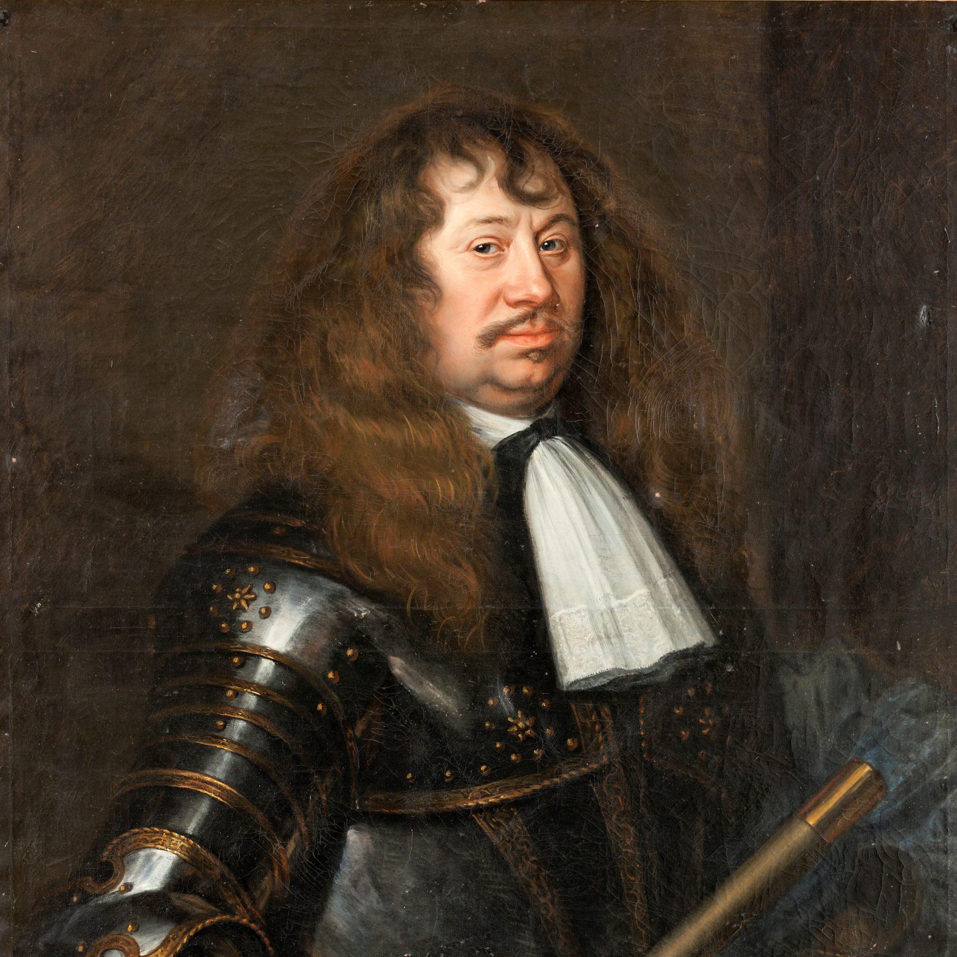 Oljemålning av Matthäus merian den yngre föreställande Carl Gustaf Wrangel.