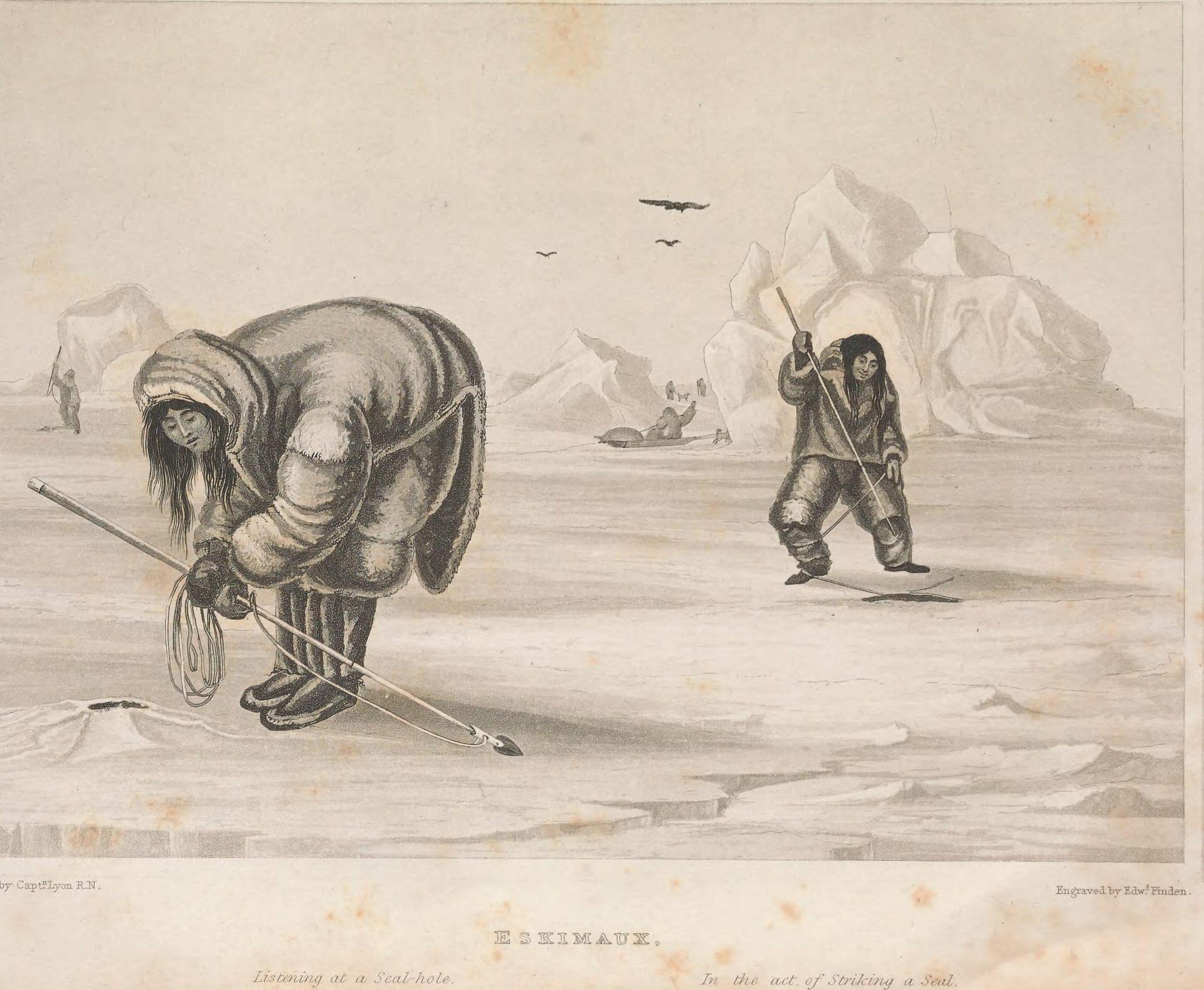 Två inuit-kvinnor.