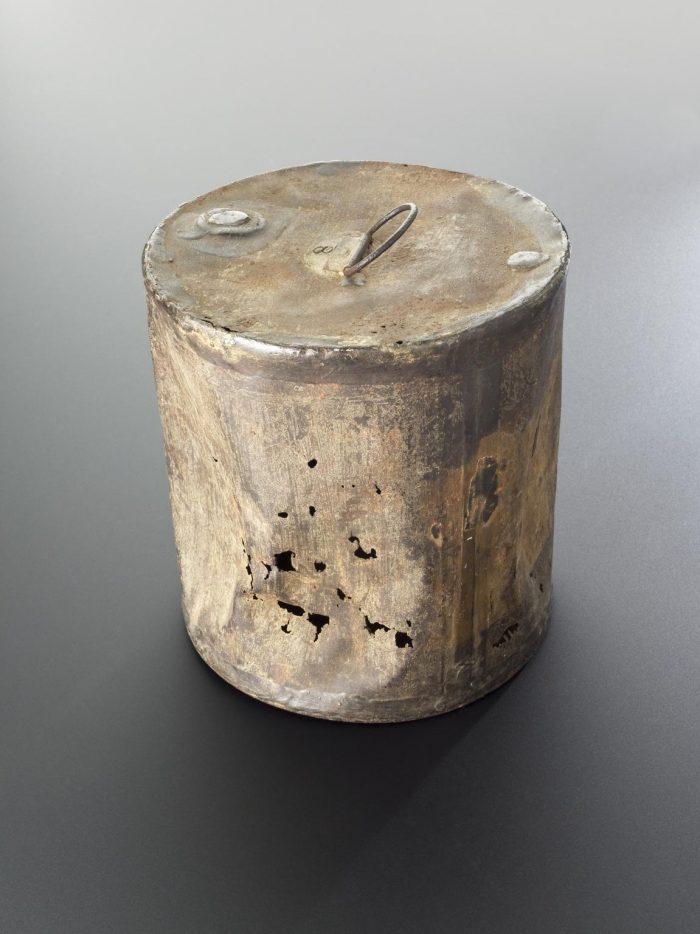 Bild på en konservburk från 1820-talet.