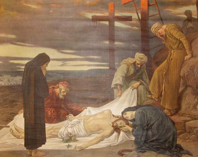 Nedtagningen från korset. Målning av Julius Kronberg.
