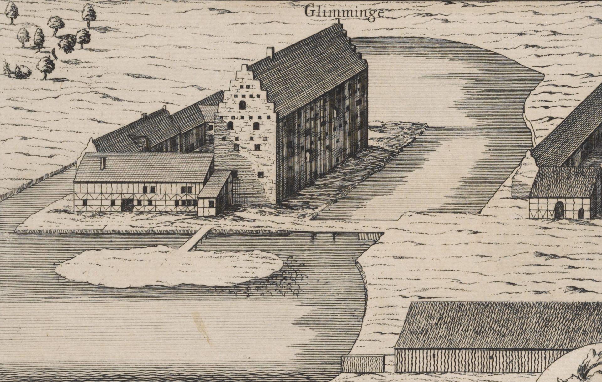 Kopparstick från 1680 av Glimmingehus