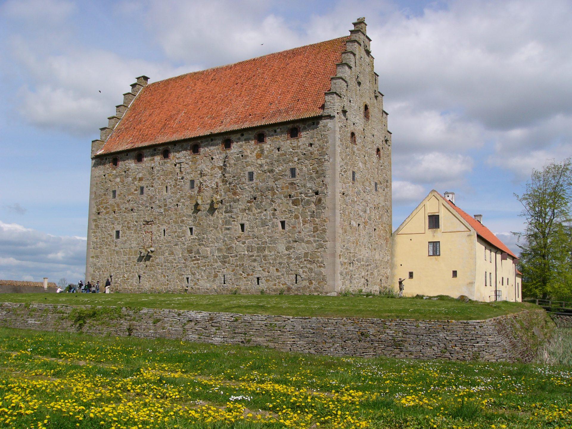 Foto av Glimmingehus i Skåne.