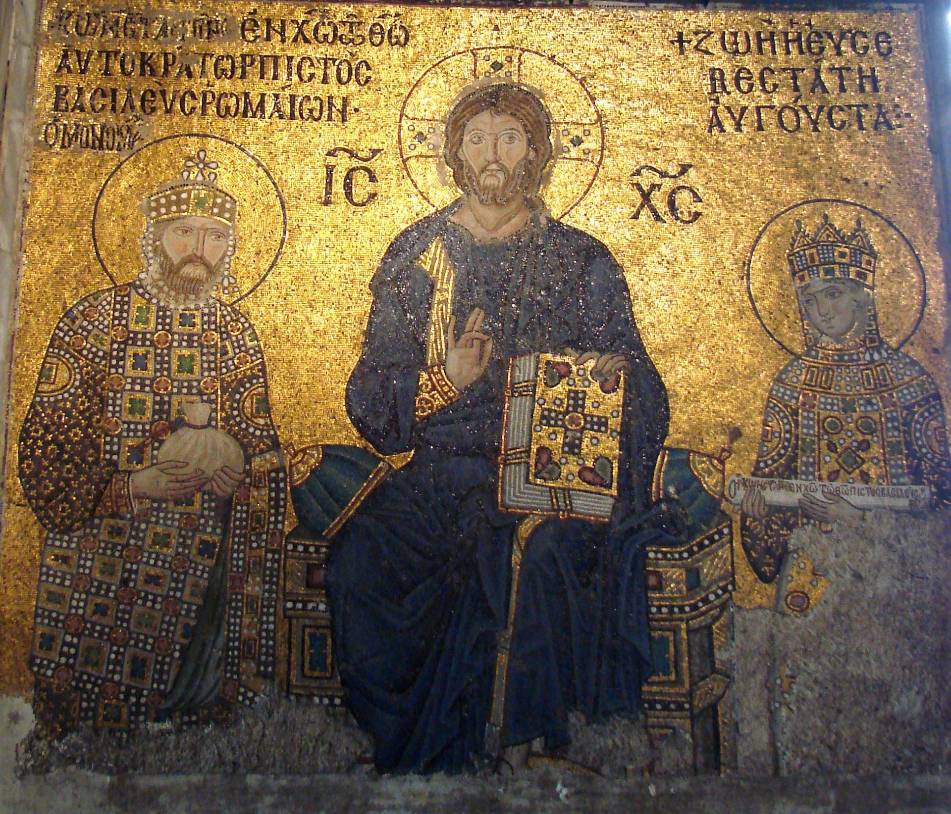 Mosaik från Haga Sofia i Istanbul.