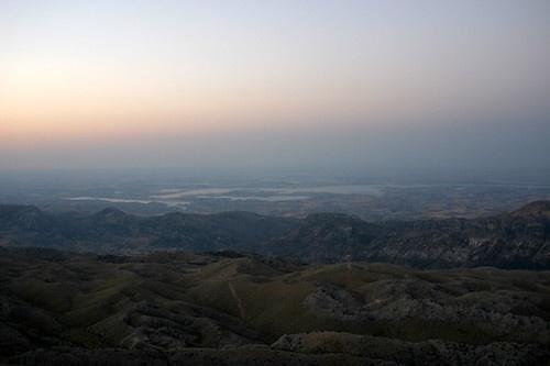 Landskapsbild över Mesopotamien.