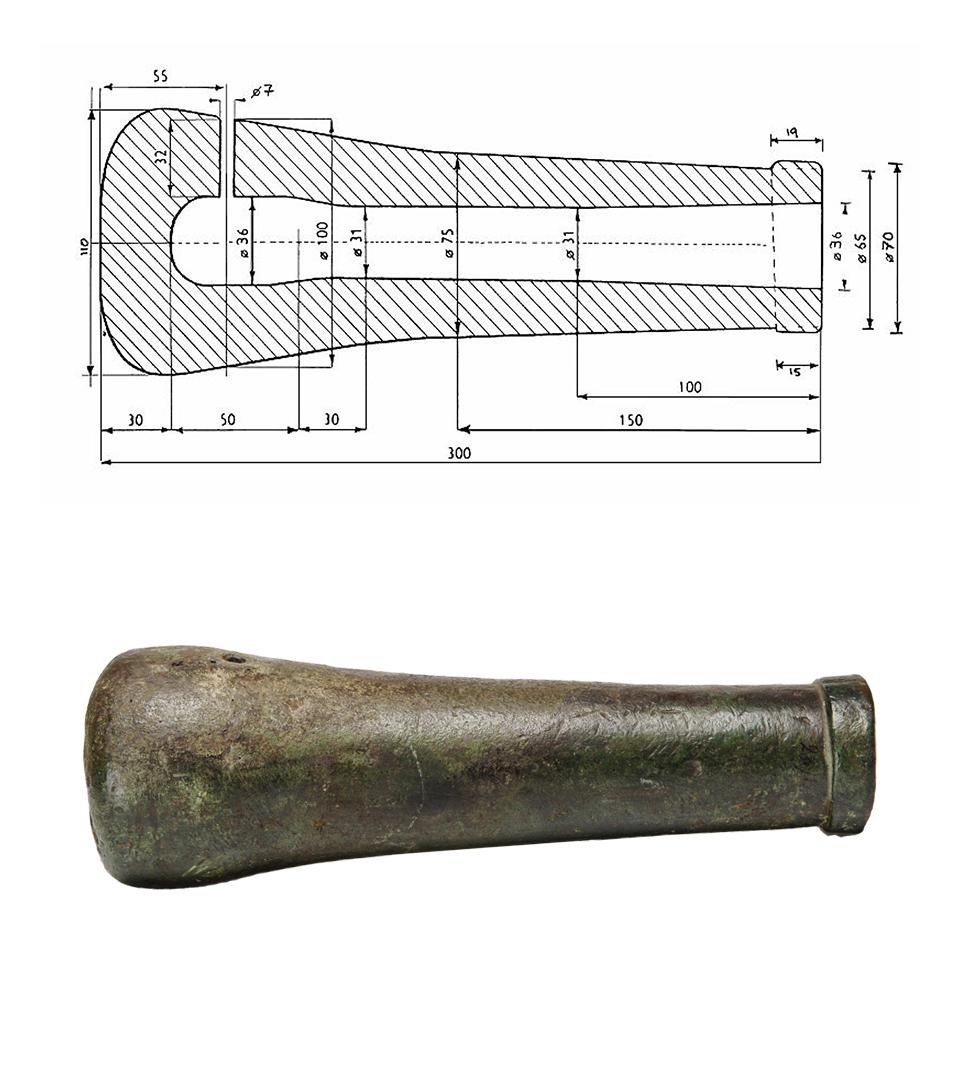 En ritning av Loshultskanonen.