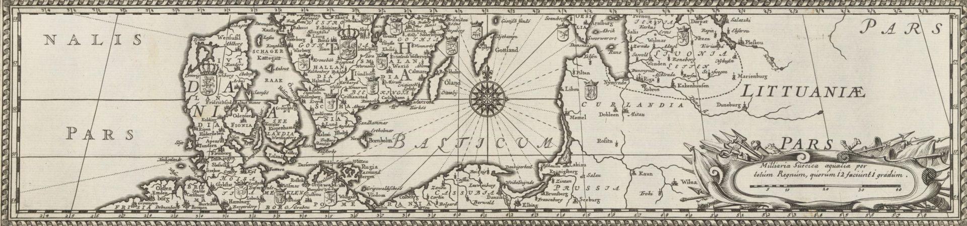 Detalj av en gammal karta.