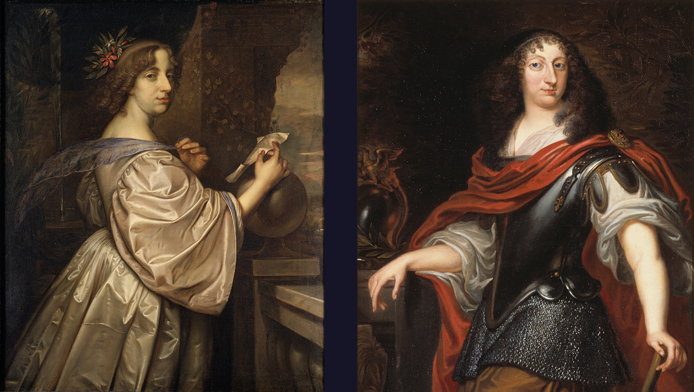 Två porträtt av drottning Kristina.
