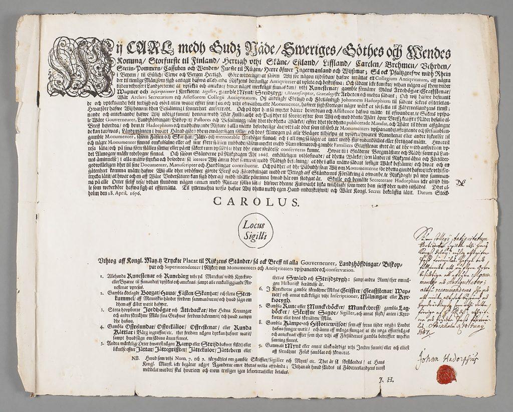 Ett gammalt dokument.