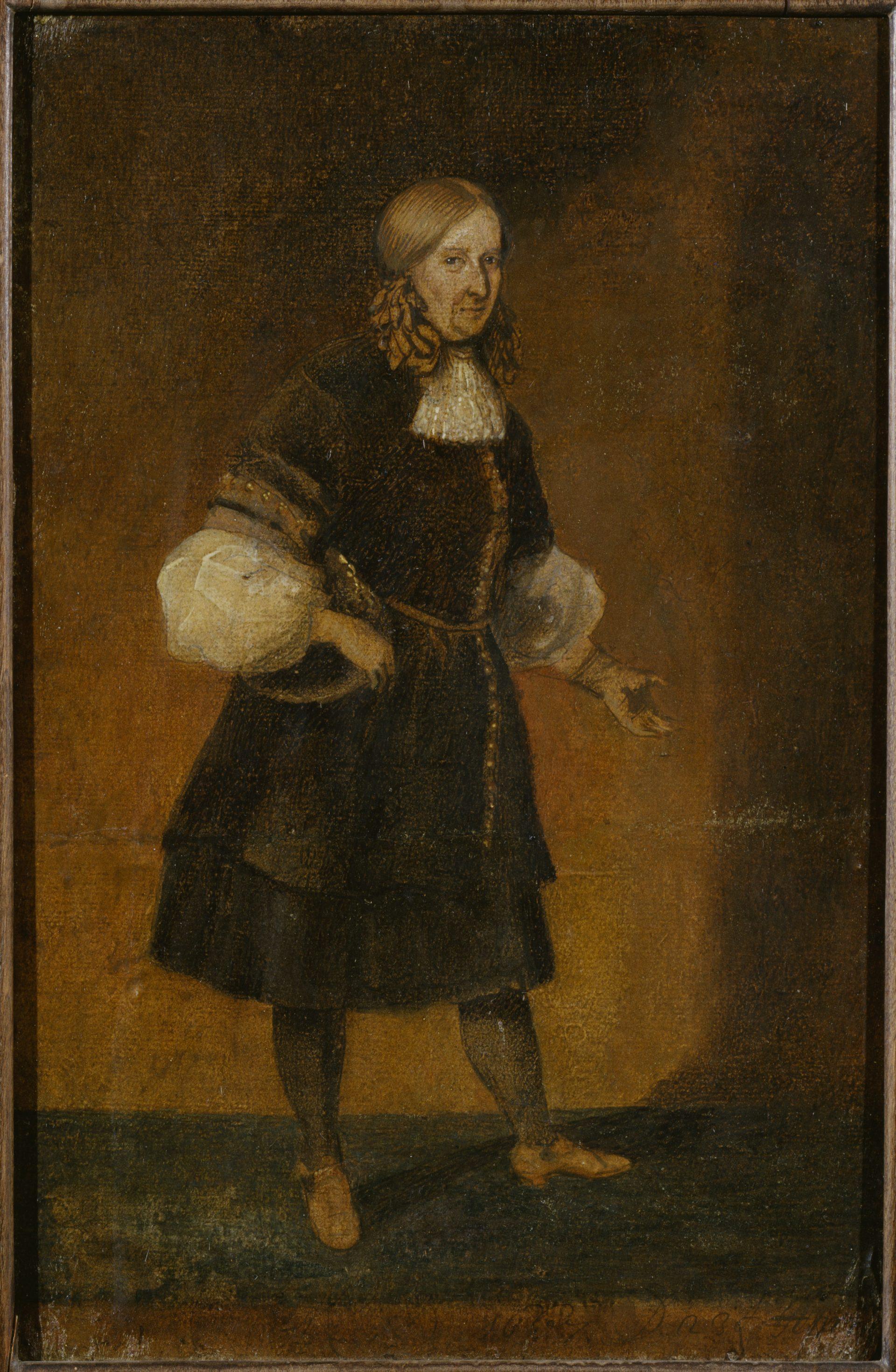 Porträtt av en kvinna med byxdress och tofsar i håret