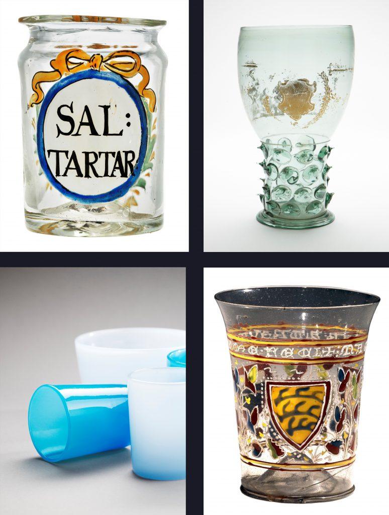 Fyra olika glas.