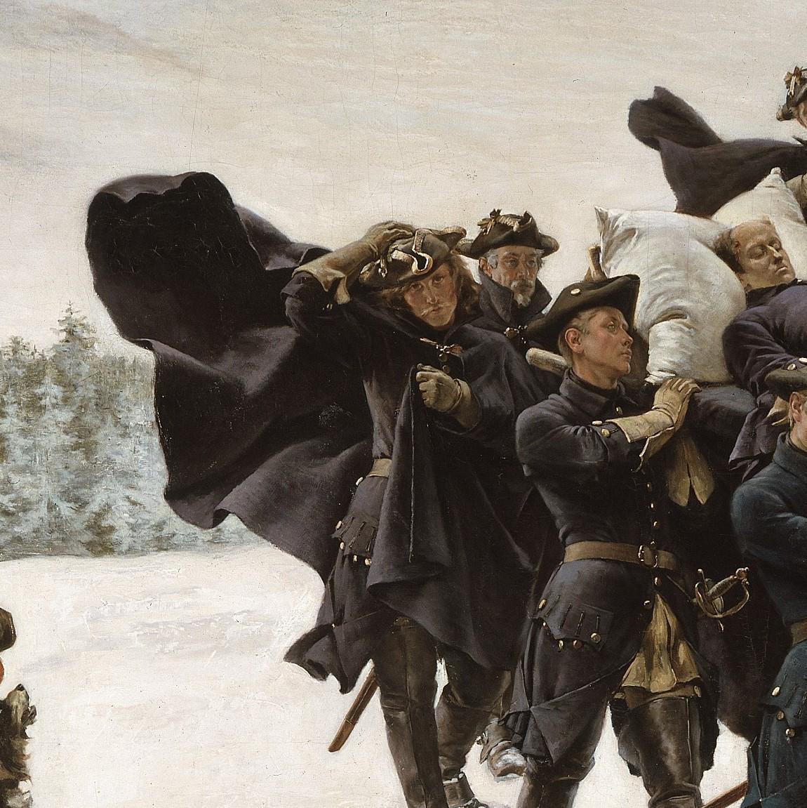 Gustaf Cederström: Karl XII:s likfärd.NM 1363