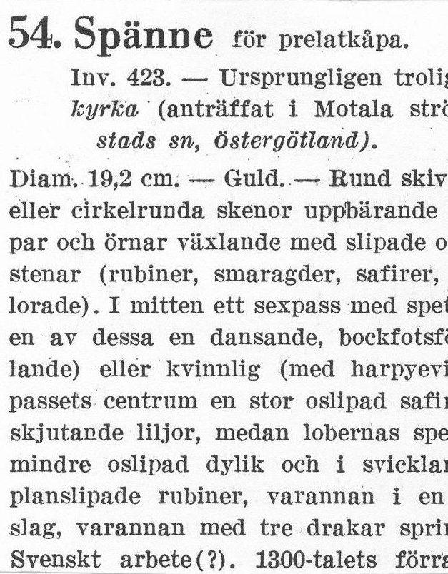 HST_Drottningens spänne_katalogkort